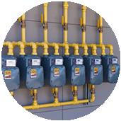 instalación de gas comunitaria