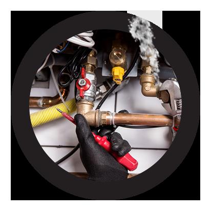 reparación urgente de fugas en calderas de gas natural