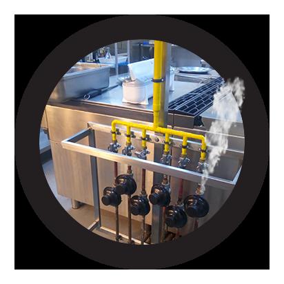 reparación urgente de fugas en cocinas de gas natural