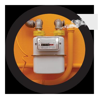 reparación urgente de fugas en instalaciones de gas natural