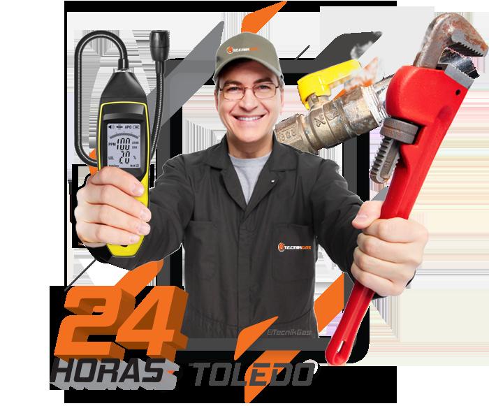 Reparación de urgencias de fuga de gas natural en Toledo