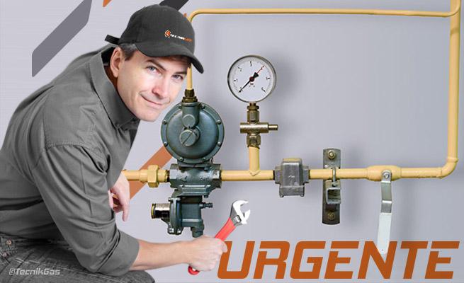 reparación urgente de instalación de gas natural