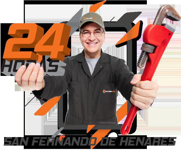 Urgencia de gas natural en San Fernando de Henares